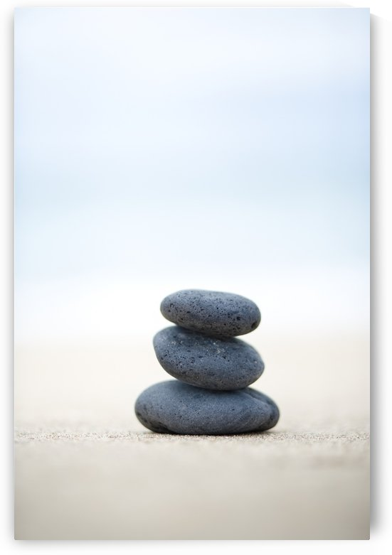 Stack Of Stones On Sand, Selective Focus. by PacificStock