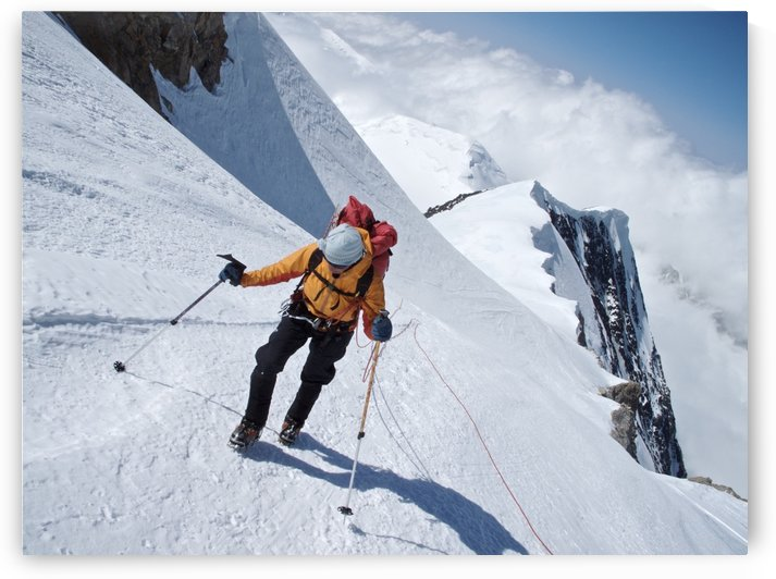 Woman Makes Her Way To Windy Corner On The West Buttress Route, Kahiltna Glacier On Mt. Mckinley, Denali National Park And Preserve, Interior Alaska, Summer by PacificStock