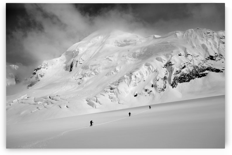 Climbers Cross The Ruth Glacier Under Mount Barrille At Denali National Park In Interior Alaska by PacificStock