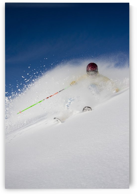 Downhill Skier In The Backcountry Of Alyeska Resort, Southcentral Alaska, Winter by PacificStock