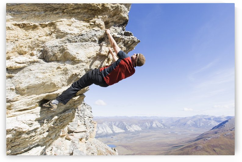 Climber Near Noatak River In The Brooks Range, Gates Of The Arctic National Park, Northwestern Alaska, Above The Arctic Circle, Arctic Alaska, Summer by PacificStock