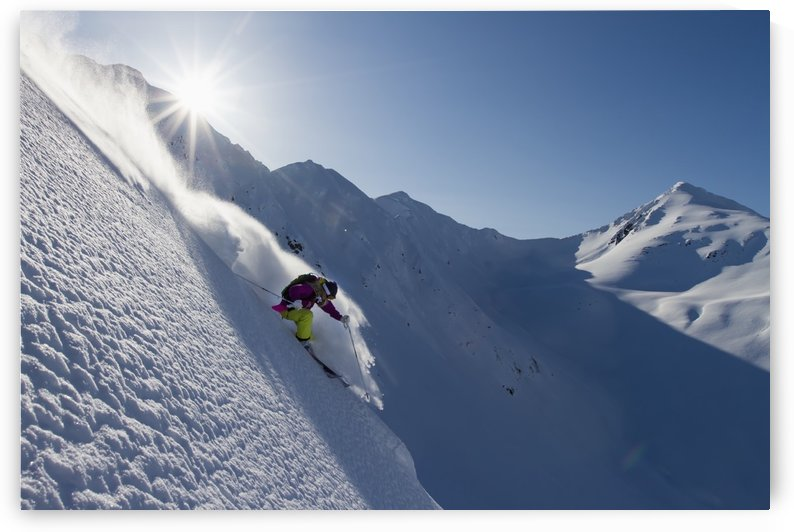 Lynsey Dyer Skiing In The Backcountry Of The Chugach Mountains In Late Winter, Southcentral Alaska. by PacificStock
