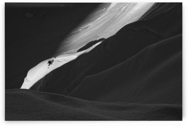 Backcountry skier splitboarding in the Tordrillo Mountains, Southcentral Alaska by PacificStock