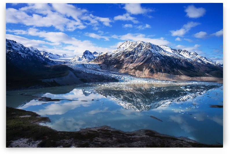 Scenic view of Shamrock Glacier near Merrill Pass, Southcentral Alaska by PacificStock