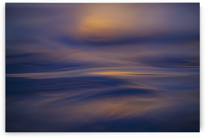 Abstract ocean patterns at sunrise; Lanikai, Oahu, Hawaii, United States of America by PacificStock