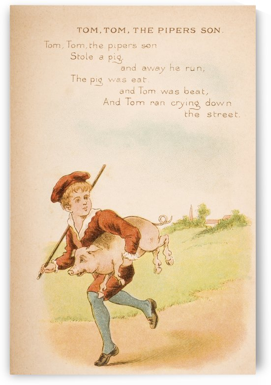 Tom Tom the Piper's Son from Old Mother Goose's Rhymes and Tales  Illustration by Constance Haslewood  Published by Frederick Warne & Co London and New York circa 1890s  Chromolithography by Emrik & Binger of Holland by PacificStock