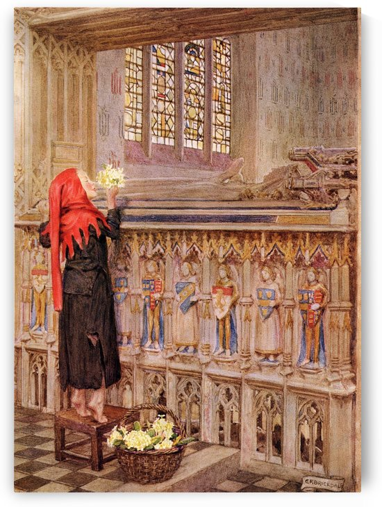 Coloured illustration by Eleanor Fortescue Brickdale illustrating the poem Death the Leveller by Shirley. From the book Palgrave's Golden Treasury of Songs and Lyrics published 1919. by PacificStock