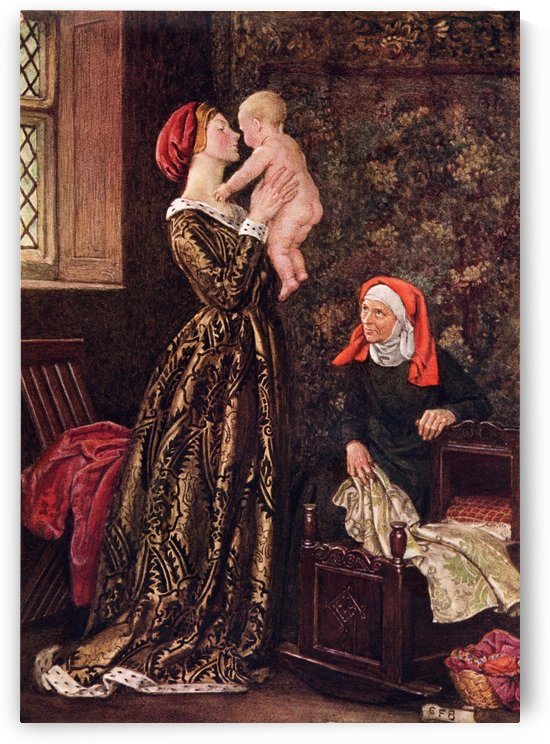 Coloured illustration by Eleanor Fortescue Brickdale illustrating the poem The Noble Nature by Jonson. From the book Palgrave's GoldenTreasury of Songs and Lyrics published 1919. by PacificStock