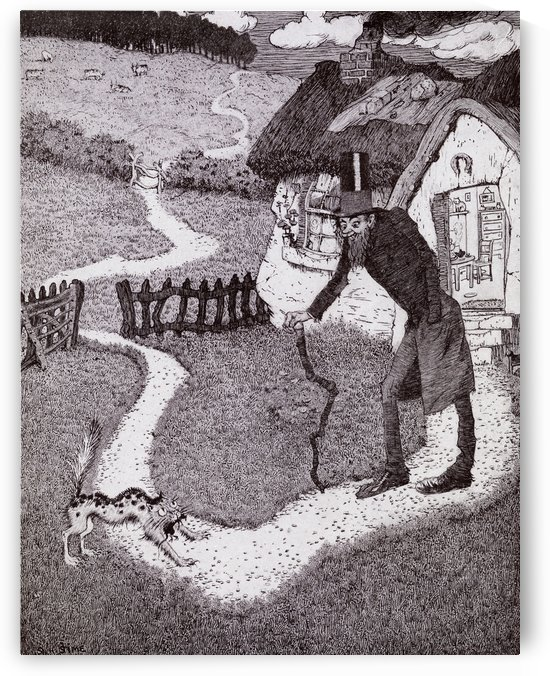 There Was A Crooked Man.  From the picture by Sidney H Sime from the book Princess Marie-José's Children's Book published 1916. by PacificStock