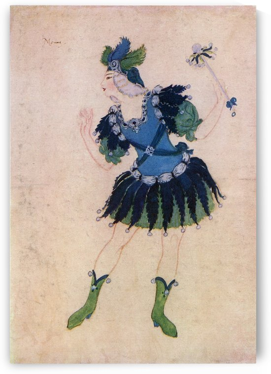 Design for the costume of Momus in the opera Phebus and Pan. From the picture by Edmund Dulac from the book Princess Marie-José's Children's Book published 1916. by PacificStock