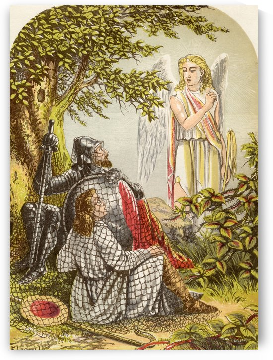 Christian and Hopeful Caught in the Net. Illustration by A.F.Lydon. From the book The Pilgrims Progress by John Bunyan published c.1880. by PacificStock