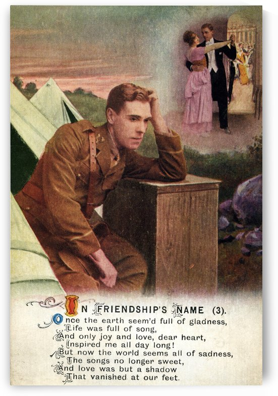 Original  First World War postcard by PacificStock