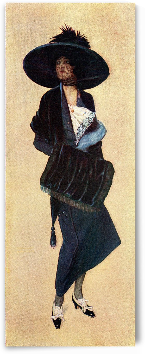 La Parisienne. Colour illustration from the book France by Gordon Home published 1918 by PacificStock