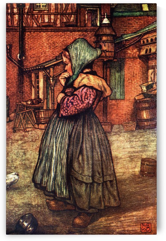 A Peasant Child of Normandy. Colour illustration from the book France by Gordon Home published 1918 by PacificStock