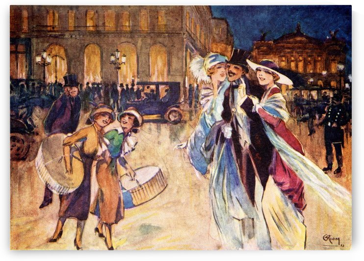 The Heart of Fashionable Paris. Colour illustration from the book France by Gordon Home published 1918 by PacificStock