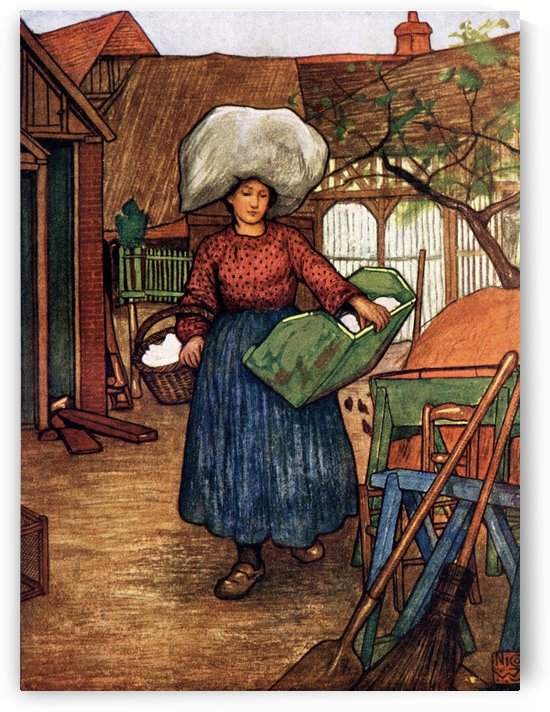 French Peasant Woman. Colour illustration from the book France by Gordon Home published 1918 by PacificStock