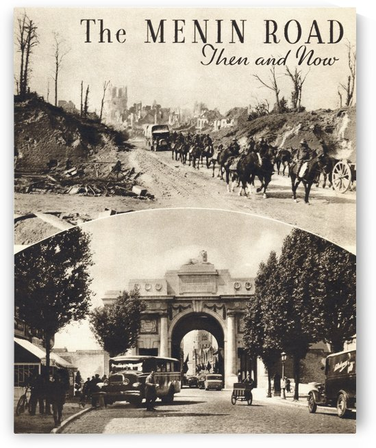 The Menin Road, Ypres Then and Now. From the magazine Twenty Years After The Battlefields of 1914-1918 Then and Now by Sir Ernest Swinton published 1938. by PacificStock