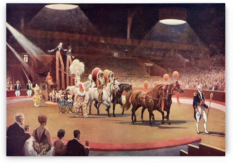 The Parade before the Performance, after the painting entitled Circus by Seago.  From The Illustrated London News, Christmas Number, 1933. by PacificStock