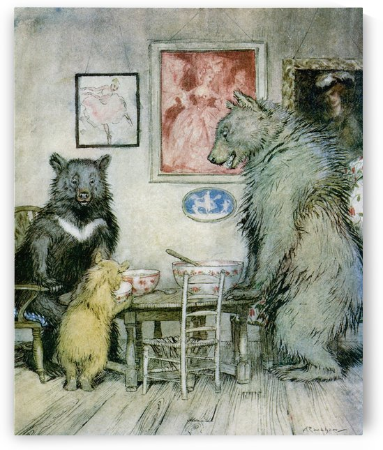 Somebody has been at my porridge and has eaten it all up.  From the story Goldilocks and the Three Bears.  From the book English Fairy Tales retold by F.A. Steel with illustrations by Arthur Rackham, published 1927. by PacificStock