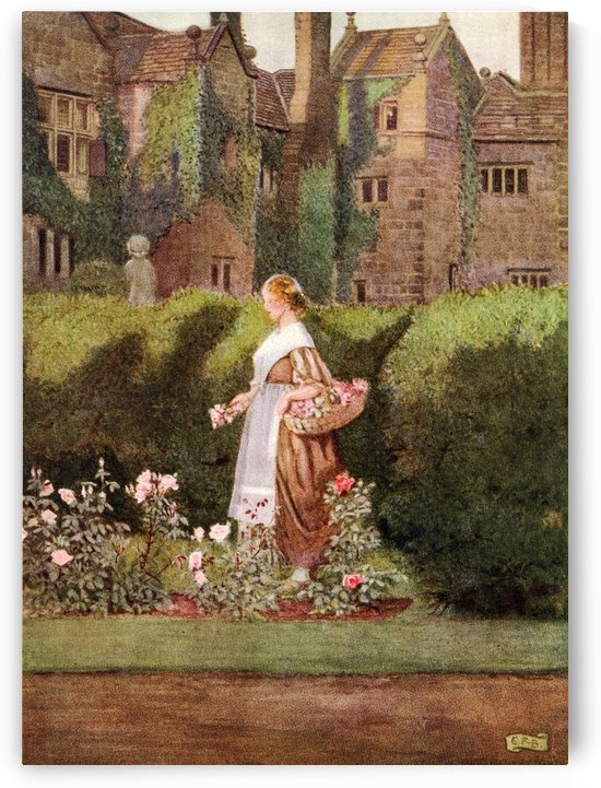 Coloured illustration by Eleanor Fortescue Brickdale illustrating the poem Cherry Ripe by Anon. From the book Palgrave's GoldenTreasury of Songs and Lyrics published 1919. by PacificStock