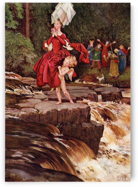 Coloured illustration by Eleanor Fortescue Brickdale illustrating the poem The Great Adventurer by Anon.  From the book Palgrave's GoldenTreasury of Songs and Lyrics published 1919. by PacificStock