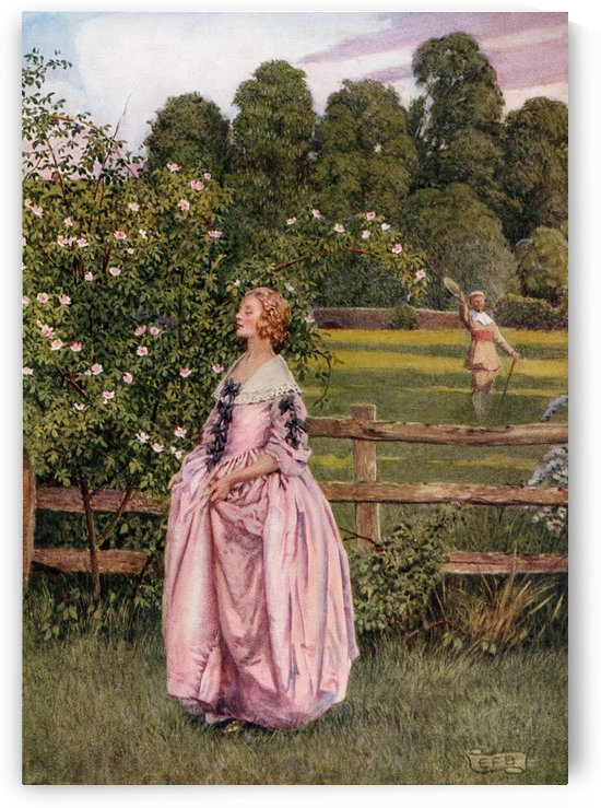 Coloured illustration by Eleanor Fortescue Brickdale illustrating the poem The Manly Heart by Wither. From the book Palgrave's GoldenTreasury of Songs and Lyrics published 1919. by PacificStock
