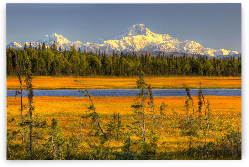 Scenic View Of Mt. Mckinley At Sunset As Seen From South Of The Denali National Park Southcentral Alaska Summer, Hdr Image by PacificStock