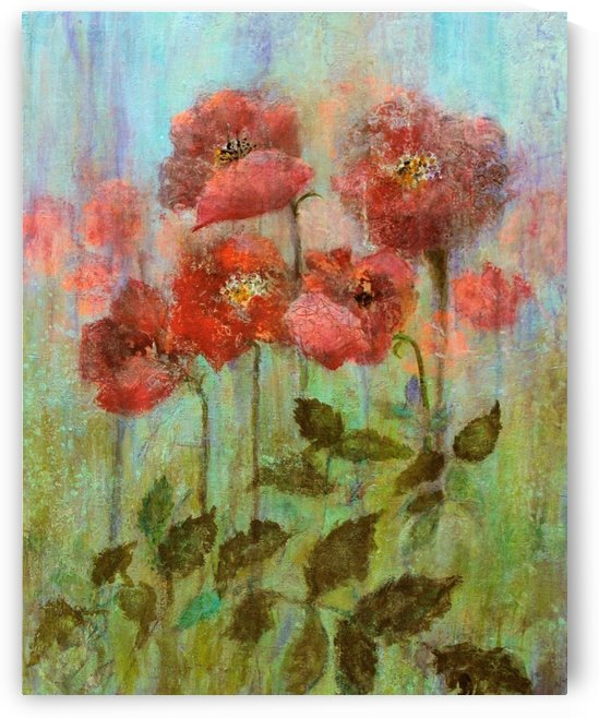 Poppies In Pastel Red by Joy of Life