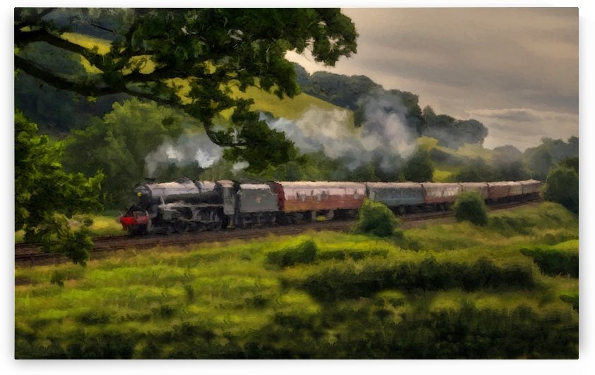 Country Train Ride by David Dehner