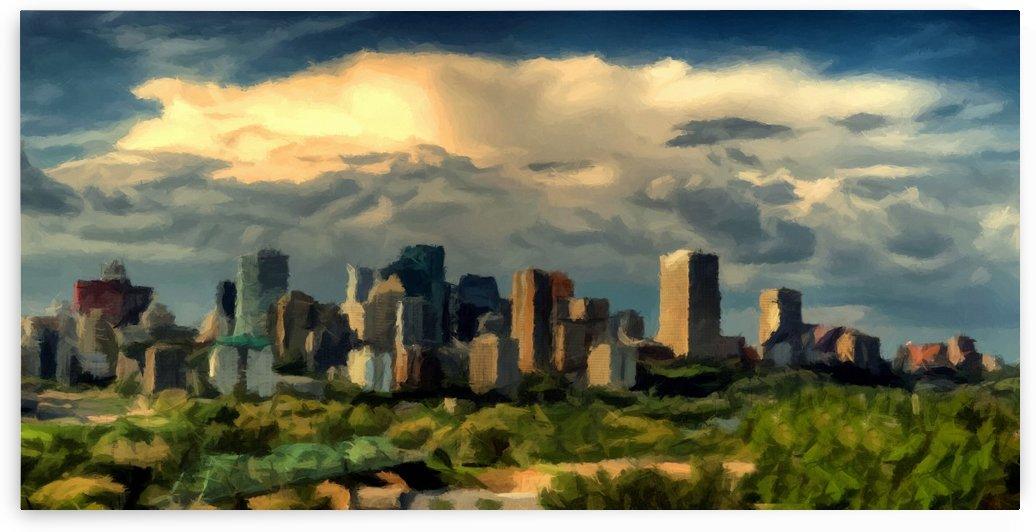 Edmonton Alberta Canada Skyline by David Dehner
