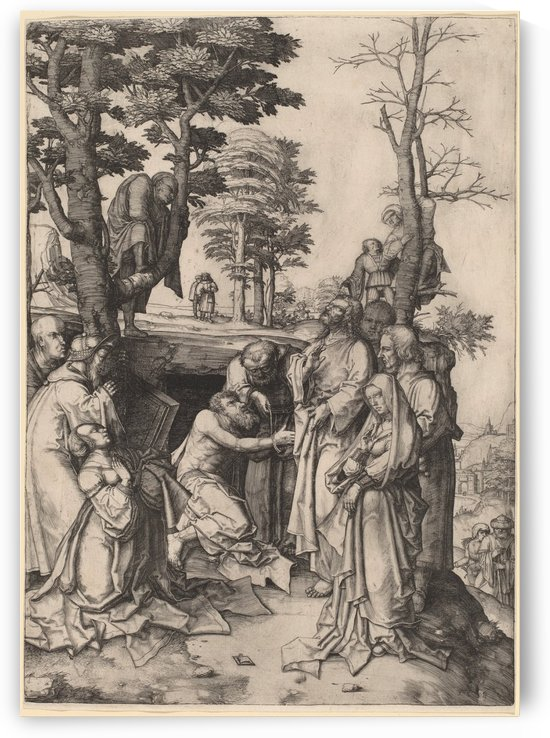The Raising of Lazarus by Lucas van Leyden