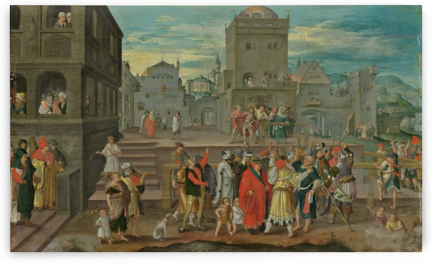 Christ presented to the people by Lucas van Leyden