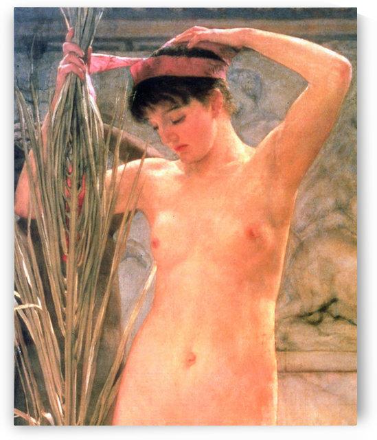 The model of a sculptor (Venus Esquilina) detail by Alma-Tadema by Alma-Tadema