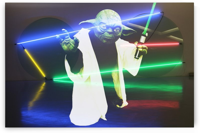 Laser Yoda by Mystic Art