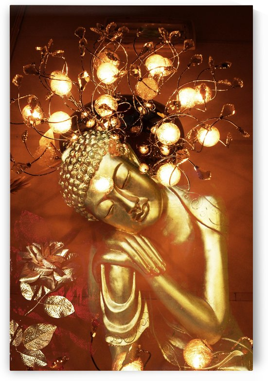 Golden Buddha by Mystic Art