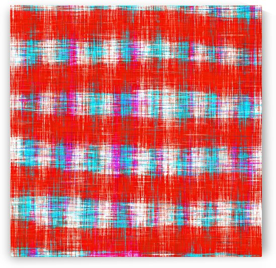 plaid pattern abstract texture in in red blue pink by TimmyLA