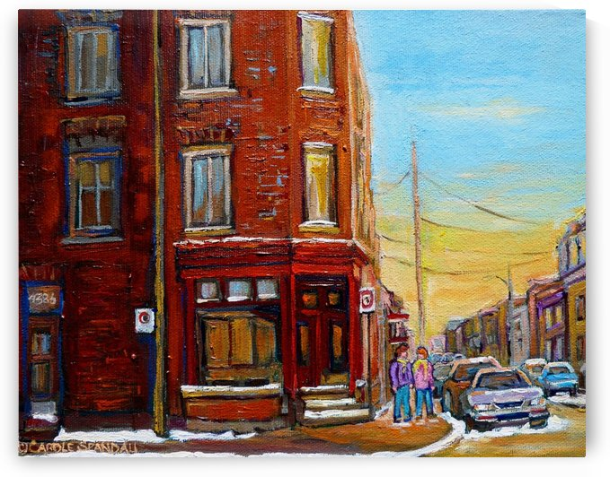 ST HENRI ANTIQUE SHOP MONTREAL STREET SCENE by Carole  Spandau