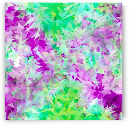 psychedelic geometric triangle abstract pattern in purple and green by TimmyLA