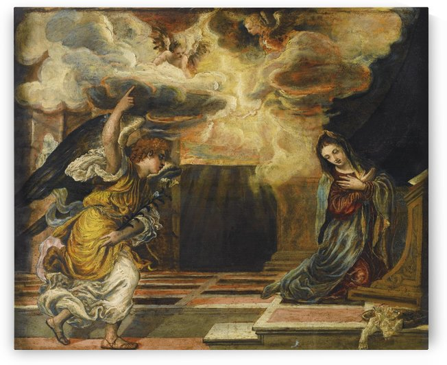 Annunciation, with several angels by El Greco