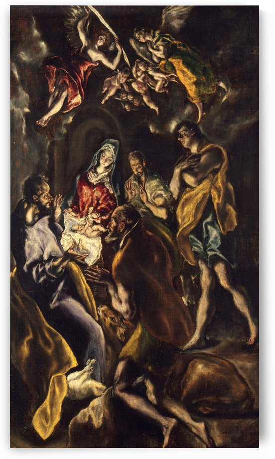 Adoration of the shepherds by El Greco