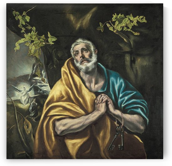 St Peter in Penitence by El Greco