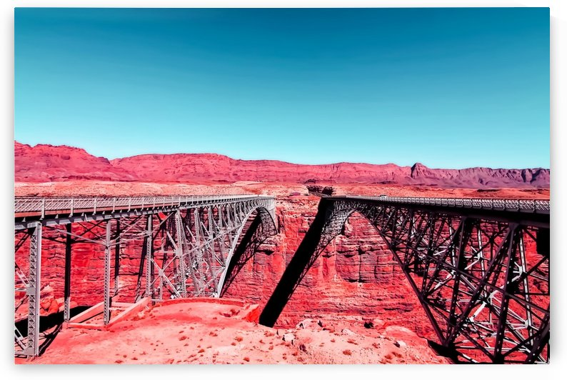 bridge in the desert with blue sky in the USA by TimmyLA