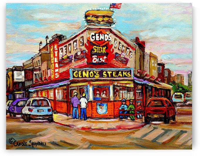 GENOS STEAKS PHILADELPHIA by Carole  Spandau