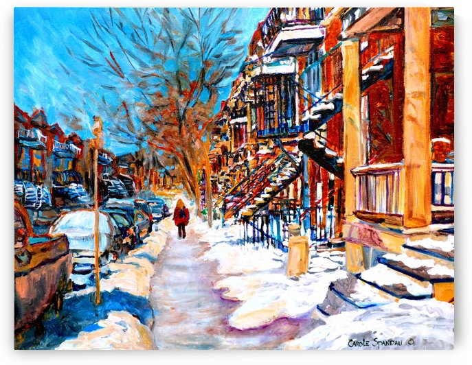 MONTREAL STREET IN WINTER by Carole  Spandau