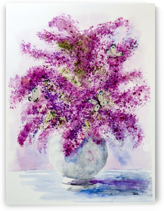 Lilacs and Butterflies  by DHWebbArt