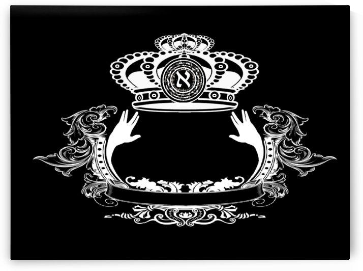monogram crown  4 black by pinchos tewel