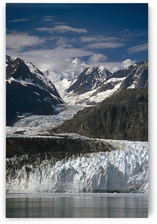 Ak Southeast Glacier Bay Natl Park Margerie Glacier Tarr Inlet Summer Scenic Mountains by PacificStock