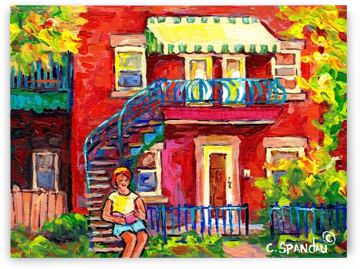 MONTREAL SUMMER STREET by Carole  Spandau