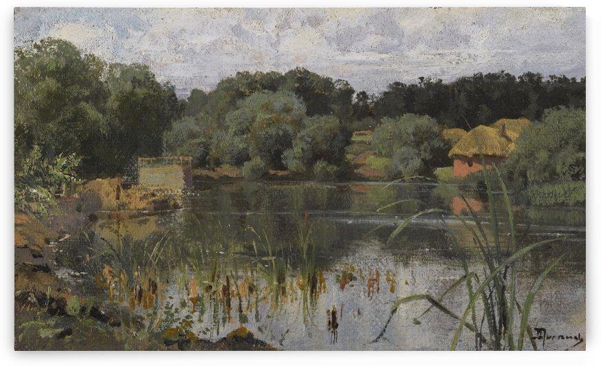 On the lake by Vasili Dmitrievich Polenov