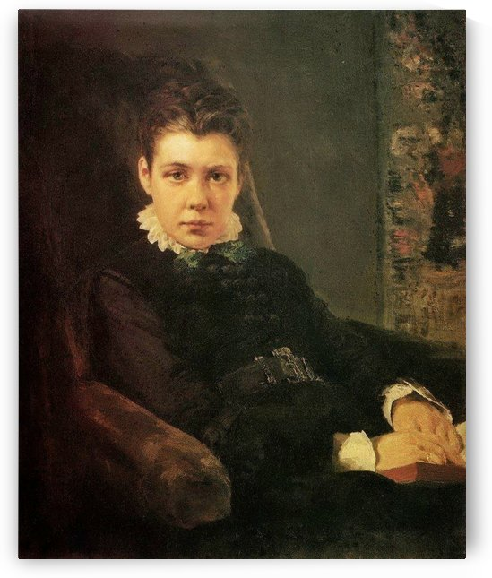 Portrait of the artist's sister by Vasili Dmitrievich Polenov